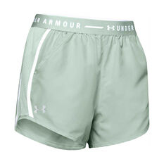 Under Armour Womens UA Fly By Exposed Shorts Green XS, Green, rebel_hi-res