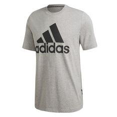 adidas Mens Must Haves Badge of Sport Tee, Grey, rebel_hi-res