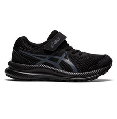 Asics Contend 7 Kids Running Shoes Black US 11, Black, rebel_hi-res