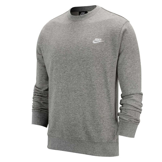 Nike Mens Sportswear Club French Terry Crew, Grey, rebel_hi-res