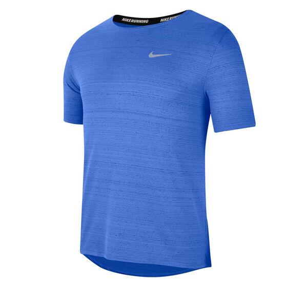 Nike Mens Dri-FIT Miler Tee, Blue, rebel_hi-res