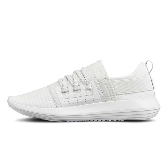 Under Armour Adapt Womens Casual Shoes, White / Grey, rebel_hi-res