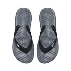 Nike Solay Boys Thongs Grey / Silver US 4, Grey / Silver, rebel_hi-res