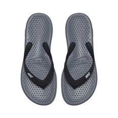 Nike Solay Boys Thongs Grey / Silver US 4, Grey / Silver, rebel_hi-res