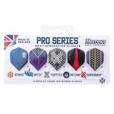 Harrows Pro Series Dart Flight Set 5 Pack Assorted, , rebel_hi-res