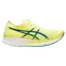 Asics Magic Speed Mens Running Shoes Yellow/Blue US 7, Yellow/Blue, rebel_hi-res
