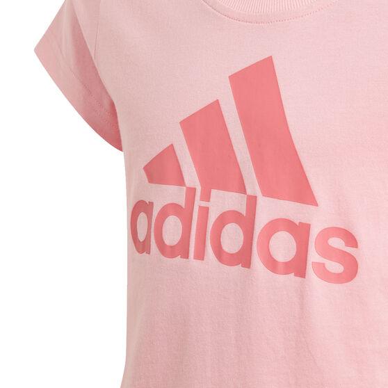 adidas Girls Essentials Tee, Pink, rebel_hi-res