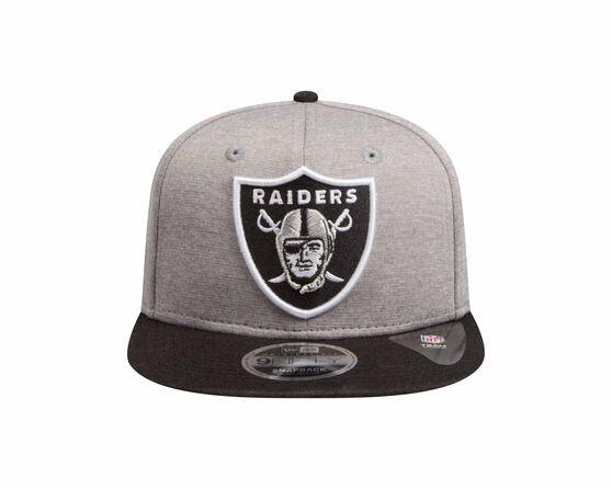 Oakland Raiders New Era 9FIFTY Double Shadow Tech Cap Grey, Grey, rebel_hi-res