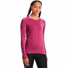 Under Armour Womens HeatGear Armour Top, Pink, rebel_hi-res