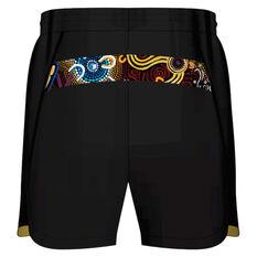NRL Indigenous All Stars Mens 2021 Training Shorts Black S, Black, rebel_hi-res