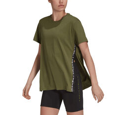adidas Womens Karlie Kloss Loose Tee Khaki XS, Khaki, rebel_hi-res