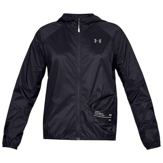 Under Armour Womens Qualifier Storm Packable Jacket, Black, rebel_hi-res