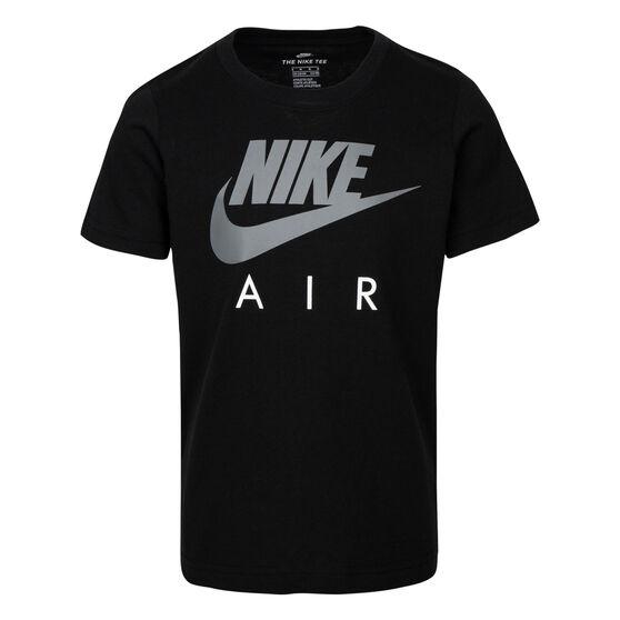 Nike Boys Futura Air Tee, Black/Grey, rebel_hi-res