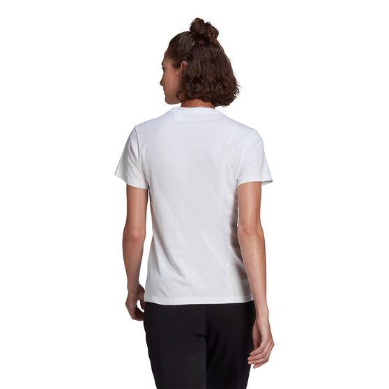 adidas Womens Essentials Big Logo Tee, White, rebel_hi-res