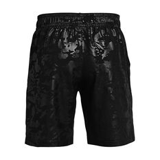 Under Armour Mens Woven Embossed Shorts, Black, rebel_hi-res
