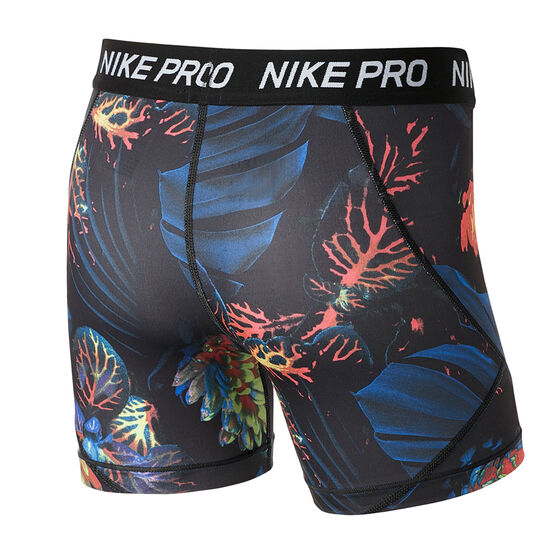 Nike Girls Pro Boyleg Shorts Blue / White XL, Blue / White, rebel_hi-res