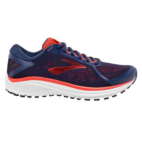 Brooks Aduro 6 Womens Running Shoes, Blue / Pink, rebel_hi-res