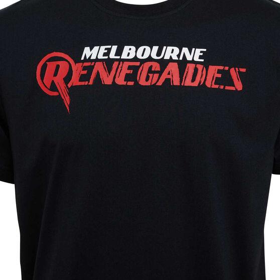 Melbourne Renegades 2019/20 Mens Supporter Tee, Black, rebel_hi-res