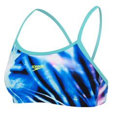 Speedo Womens Rays Crop Top Print 8, Print, rebel_hi-res