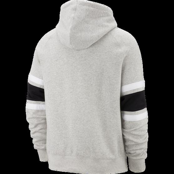 Nike Air Mens Full-Zip Fleece Hoodie, Grey, rebel_hi-res
