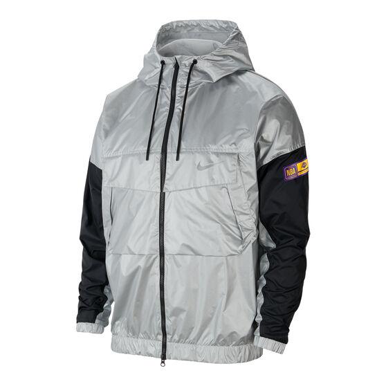 Los Angeles Lakers Mens Chrome Jacket, Grey, rebel_hi-res