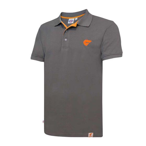 GWS GIANTS Mens Pique Polo Shirt, , rebel_hi-res
