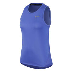 Nike Womens Miler Running Tank Blue XS, Blue, rebel_hi-res