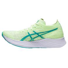 Asics Magic Speed Womens Running Shoes Yellow/Blue US 6, Yellow/Blue, rebel_hi-res