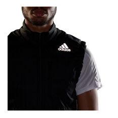 adidas Mens Own The Run 3-Stripes Vest, Black, rebel_hi-res