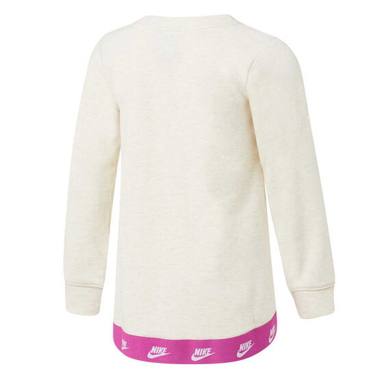 Nike Girls Futura Sweatshirt Cream 6, Cream, rebel_hi-res