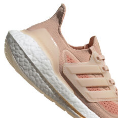 adidas Ultraboost 21 Womens Running Shoes, Pink/White, rebel_hi-res