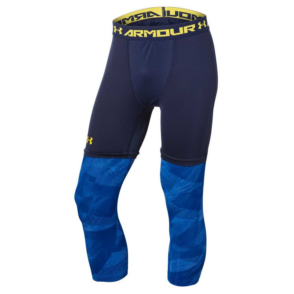 9656dbc28f Under Armour Mens SC30 3 Quarter Compression Tights Navy / Blue XL Adults,  Navy /