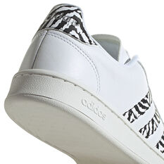 adidas Grand Court Womens Casual Shoes, White, rebel_hi-res