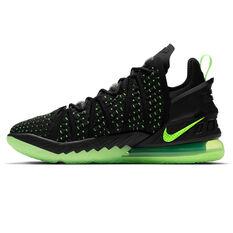 Nike LeBron XVIII Mens Basketball Shoes Black US 5.5, Black, rebel_hi-res