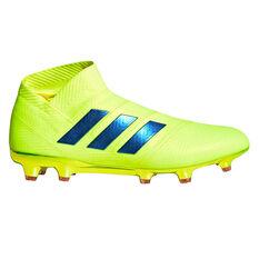 534d416d562 adidas Nemeziz 18+ Mens Football Boots Yellow   Blue US Mens 7   Womens 8  ...