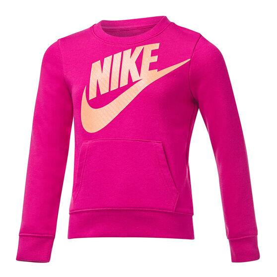 Nike Girls VF Futura Sweatshirt, Pink, rebel_hi-res