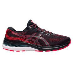 Asics GEL Kayano 28 2E Mens Running Shoes Black/Red US 7, Black/Red, rebel_hi-res