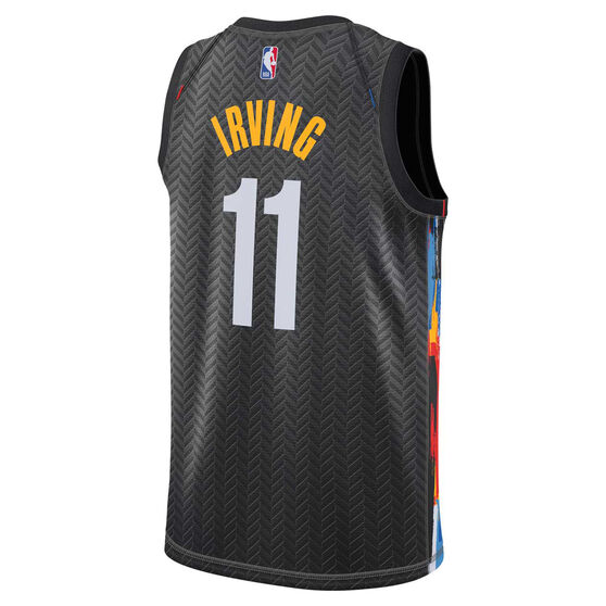 Nike Brooklyn Nets Kyrie Irving 2020/21 Kids City Edition Swingman Jersey Black S, Black, rebel_hi-res