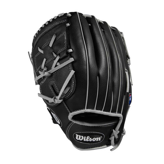 Wilson 360 Left Hand Baseball Throw Glove, Black / Silver, rebel_hi-res