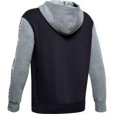 Under Armour Boys Sportstyle Fleece Hoodie Grey / Black XS, Grey / Black, rebel_hi-res