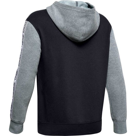 Under Armour Boys Sportstyle Fleece Hoodie, Grey / Black, rebel_hi-res