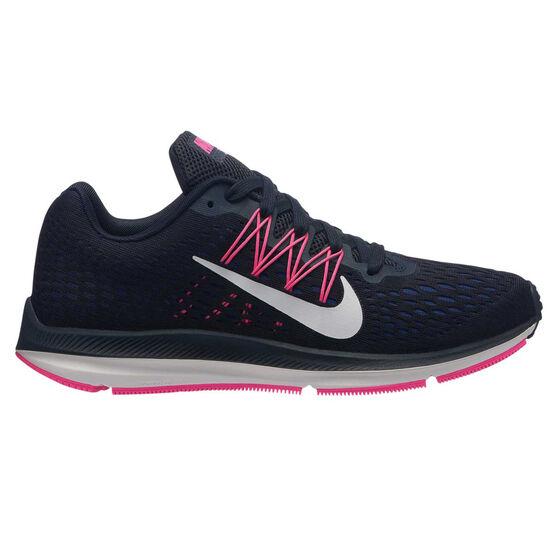 Nike Zoom Winflo 5 Womens Running Shoes Navy / Pink US 6, Navy / Pink, rebel_hi-res