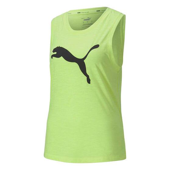 Puma Favourite Cat Muscle Tank, Yellow, rebel_hi-res