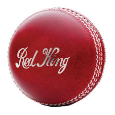 Kookaburra Red King Cricket Ball Red 142g, Red, rebel_hi-res