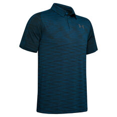 Under Armour Mens Tour Tip Seamless Polo Green S, Green, rebel_hi-res