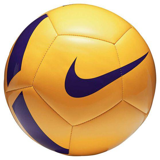 Nike Pitch Team Soccer Ball, Yellow / Purple, rebel_hi-res