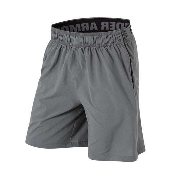 Under Armour Mens Mirage 8in Training Shorts, Grey / Black, rebel_hi-res