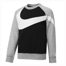 Nike Boys HBR French Terry Crew Black / Grey 4, Black / Grey, rebel_hi-res