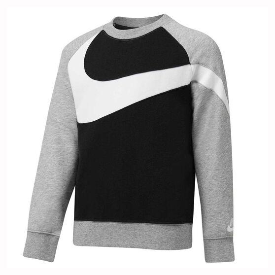 Nike Boys HBR French Terry Crew, Black / Grey, rebel_hi-res
