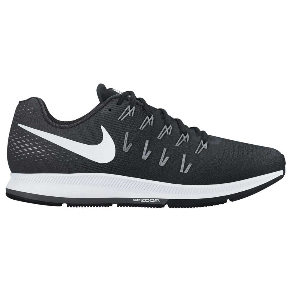 Nike Air Zoom Pegasus 33 Mens Running Shoes Black   White US 8.5 ... 81b6ff3ecc
